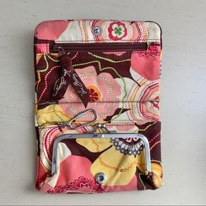 Vera Bradley Floral Quilted Wallet With Keychain